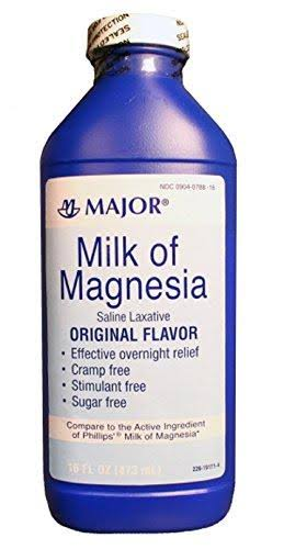 Major Milk of Magnesia Saline Laxative - Original Flavor, 16oz