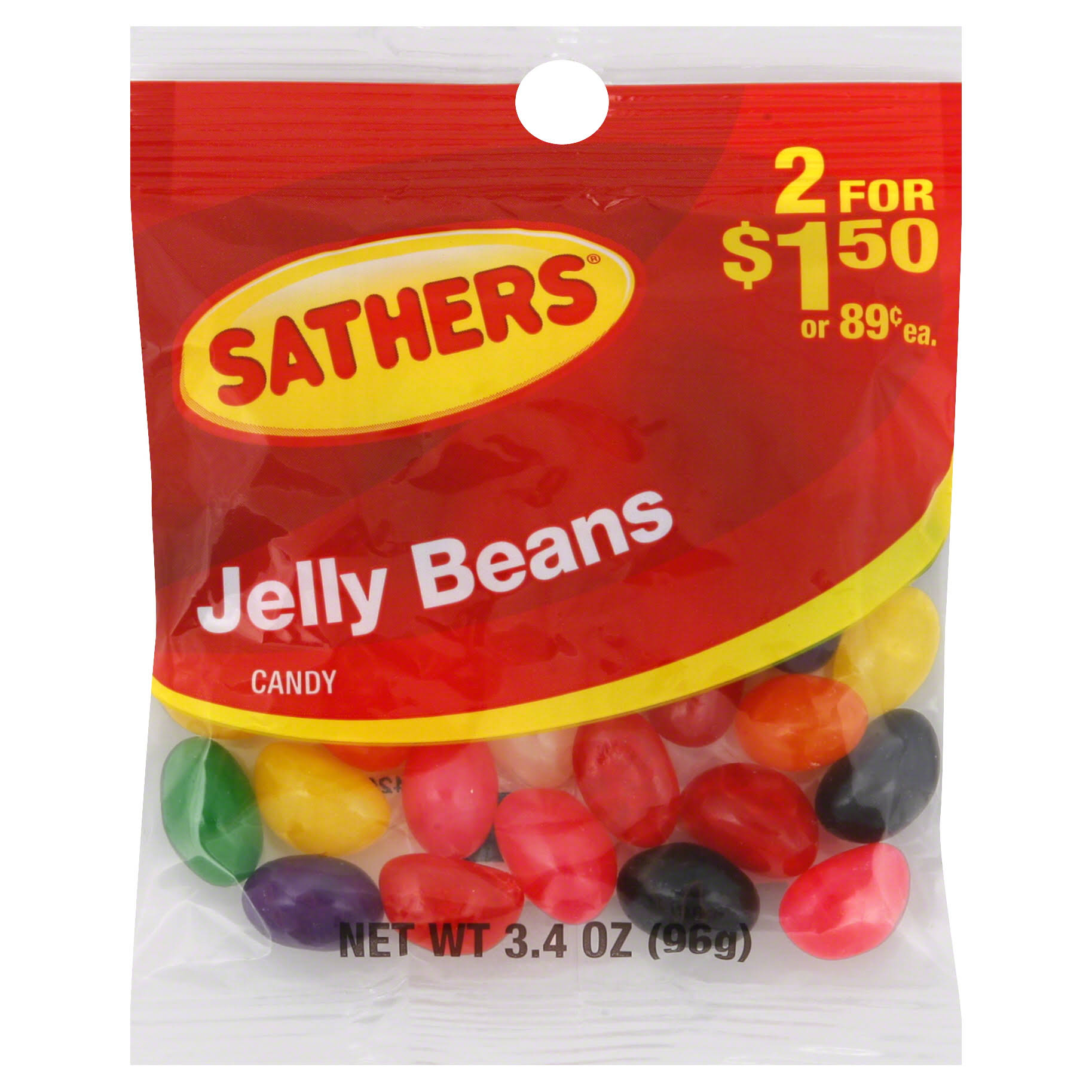 Sathers Jelly Beans Candy - 3.4oz