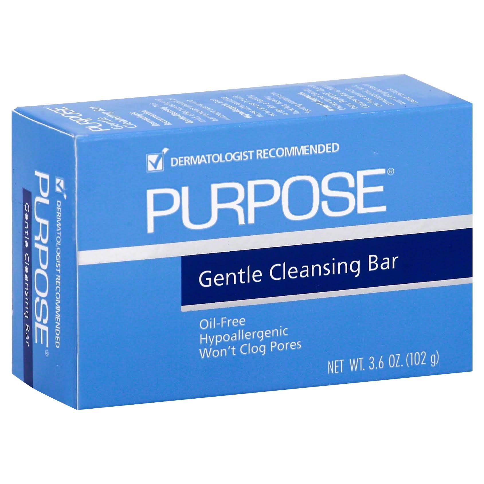 Johson & Johnsons Purpose Cleansing Bar Soap - 102g
