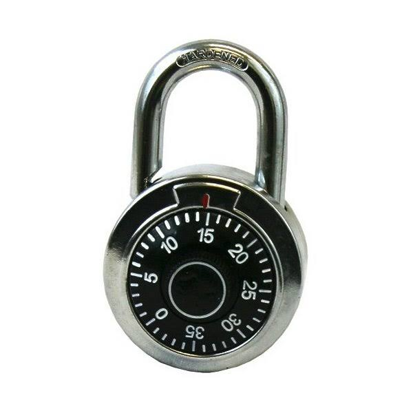 A and W Products 24740 Heavy Duty Combination Lock - Silver