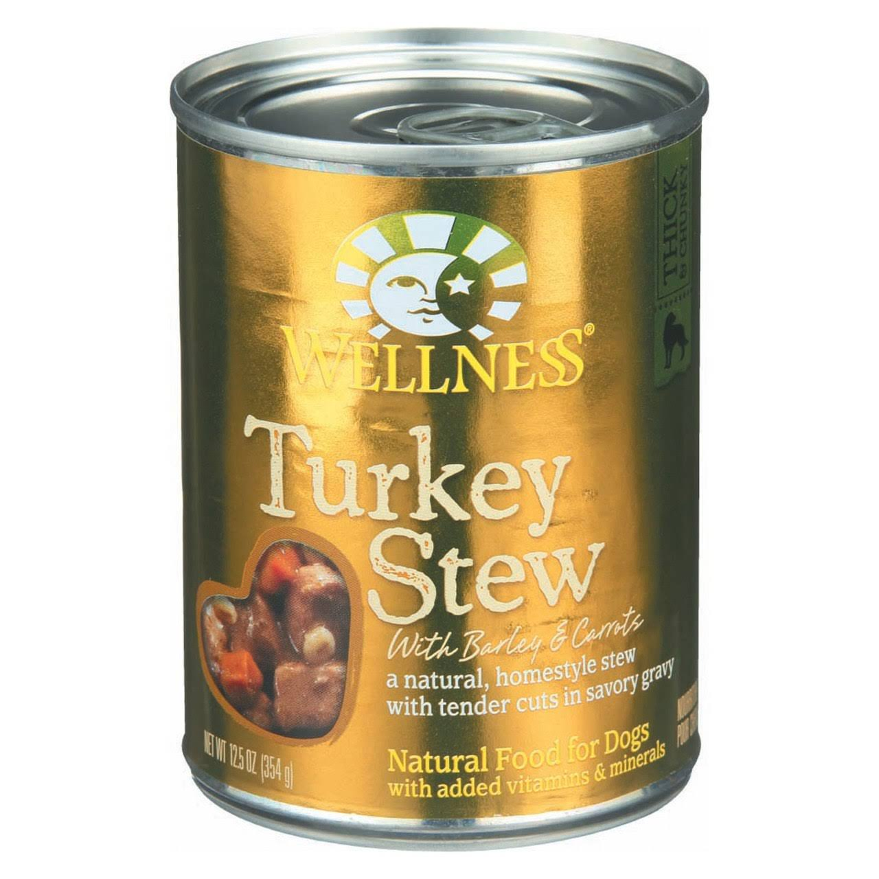 Wellness Natural Food for Dogs - Turkey Stew with Barley and Carrots
