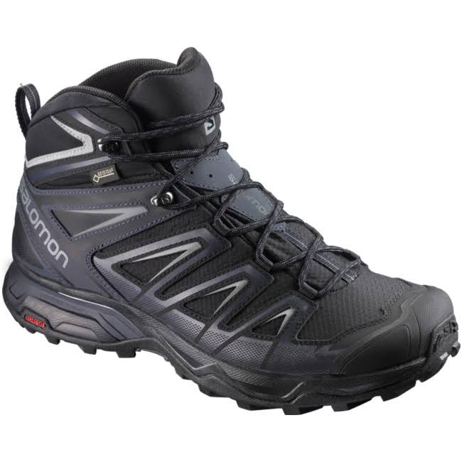 Salomon Ultra 3 Mid GTX Hiking Shoes - Black, USM12