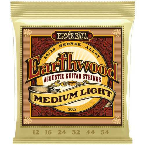 Earthwood Medium Light Acoustic Guitar - 6 Sets