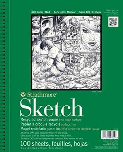 "Strathmore 400 Series Recycled Sketch Pad - 100 Sheets, 14"" x 17"""