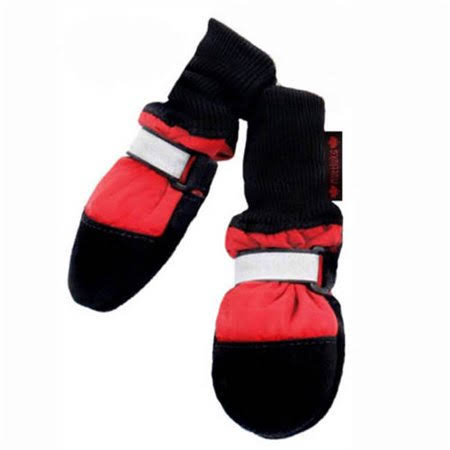 "Muttluks Fleece Lined Dog Boots - Red, Medium, 1.5"" to 2.25"""