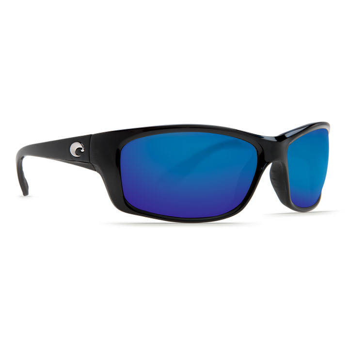 Costa Del Mar Jose 580G Shiny Black / Blue Mirror Polarized Sunglasses