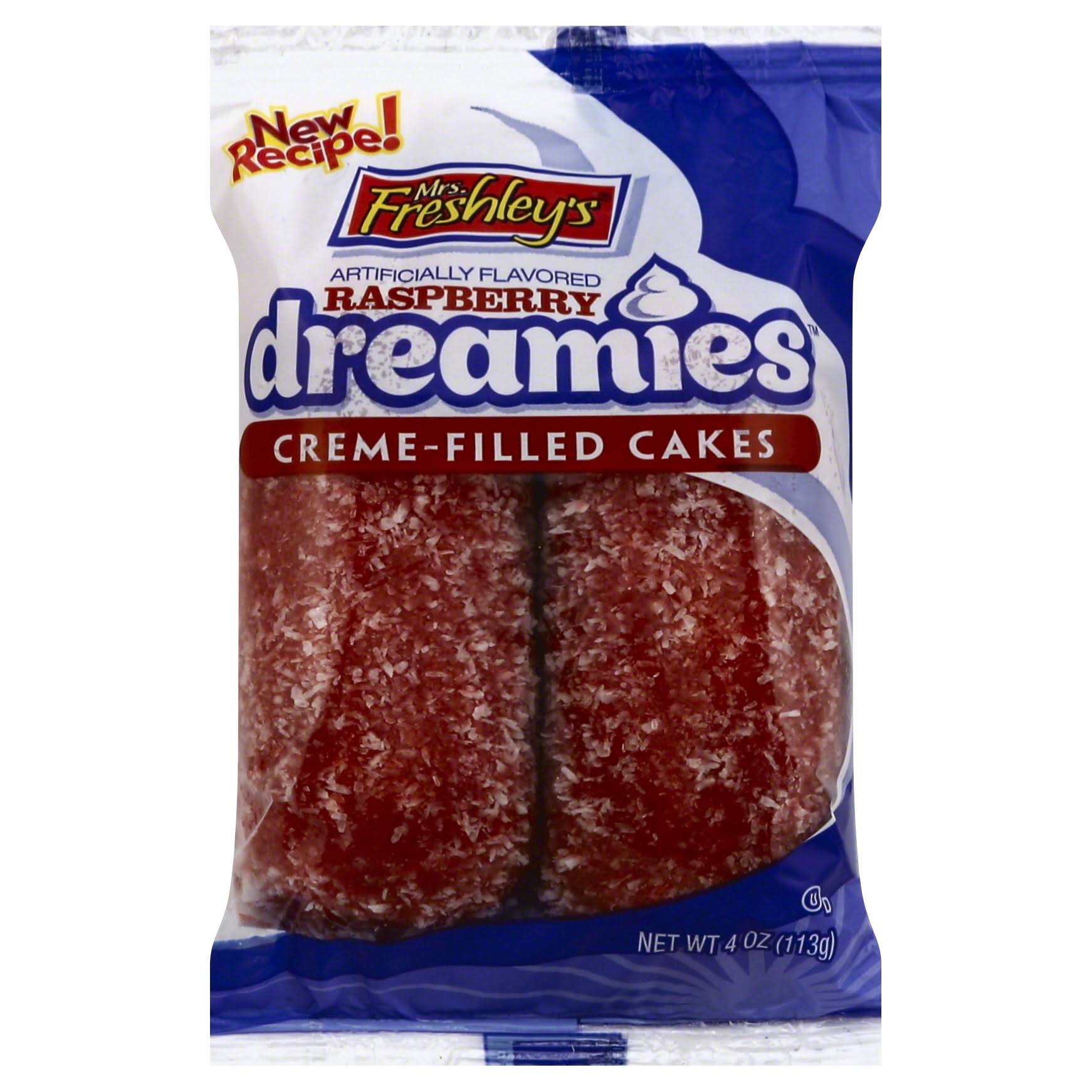 Mrs. Freshley's Dreamies Cream-Filled Cakes - Raspberry. 113g