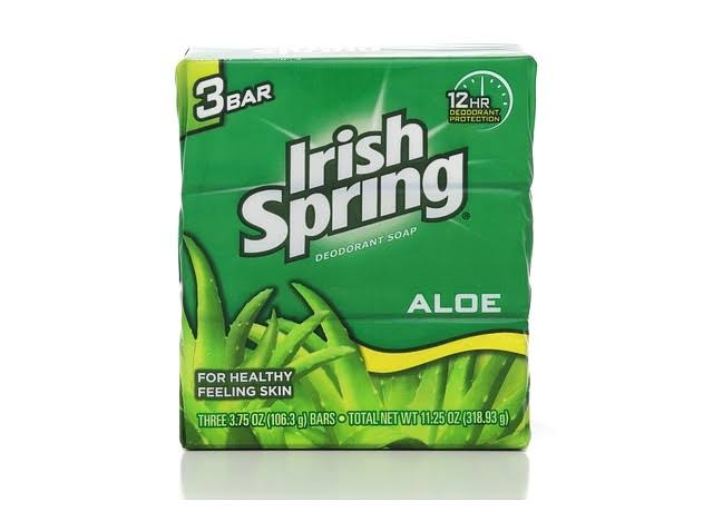 Irish Spring Aloe Deodorant Soap - 3 x 3.75 oz