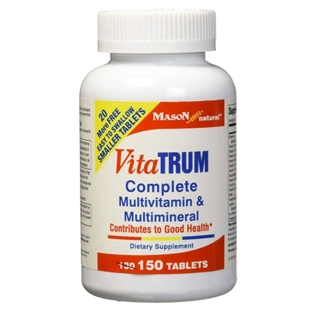 Mason Natural Vitatrum Complete Multivitamin and Multimineral Tablets - x150