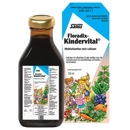 Floradix Kindervital for Children Liquid Calcium and Vitamin Formula - 500ml