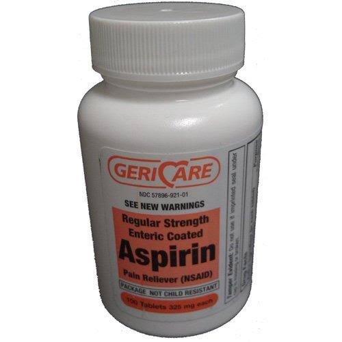 Enteric Coated Aspirin Pain Reliver - 100tabs, 325mg