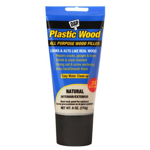Dap 00581 Plastic Wood All Purpose Wood Filler - Natural, 6oz