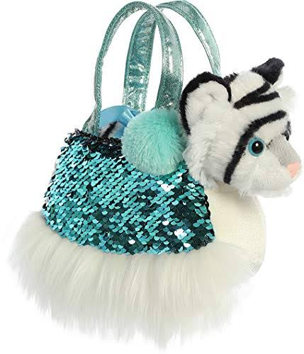 Aurora World Fancy Pals - Shimmers White Tiger Carrier 7""