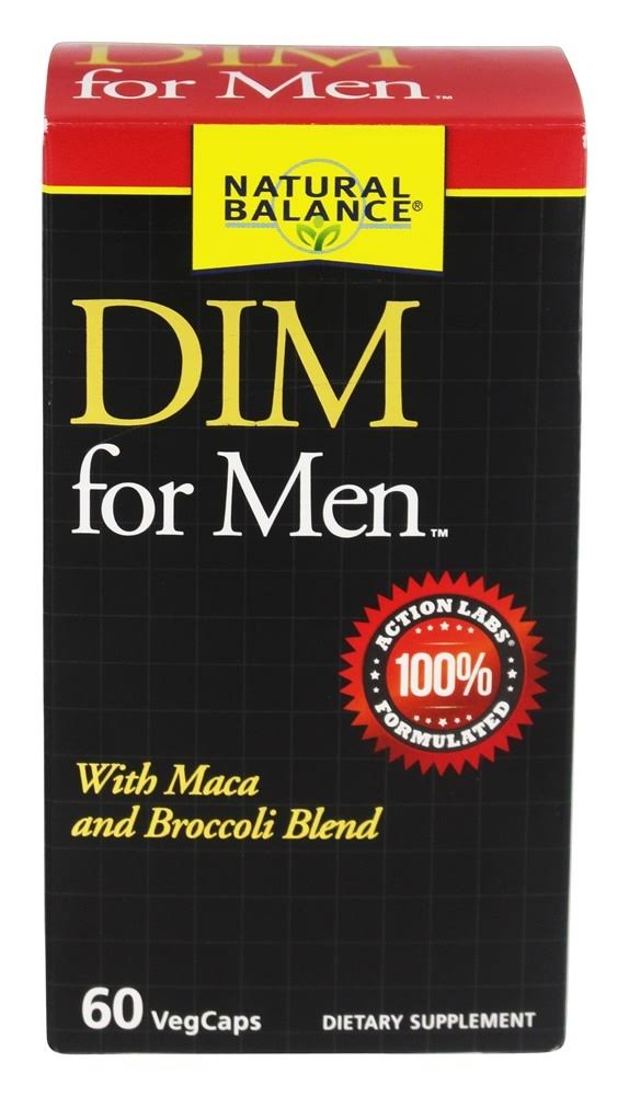 Natural Balance DIM For Men Supplement - With Maca and Broccoli Blend, 60ct