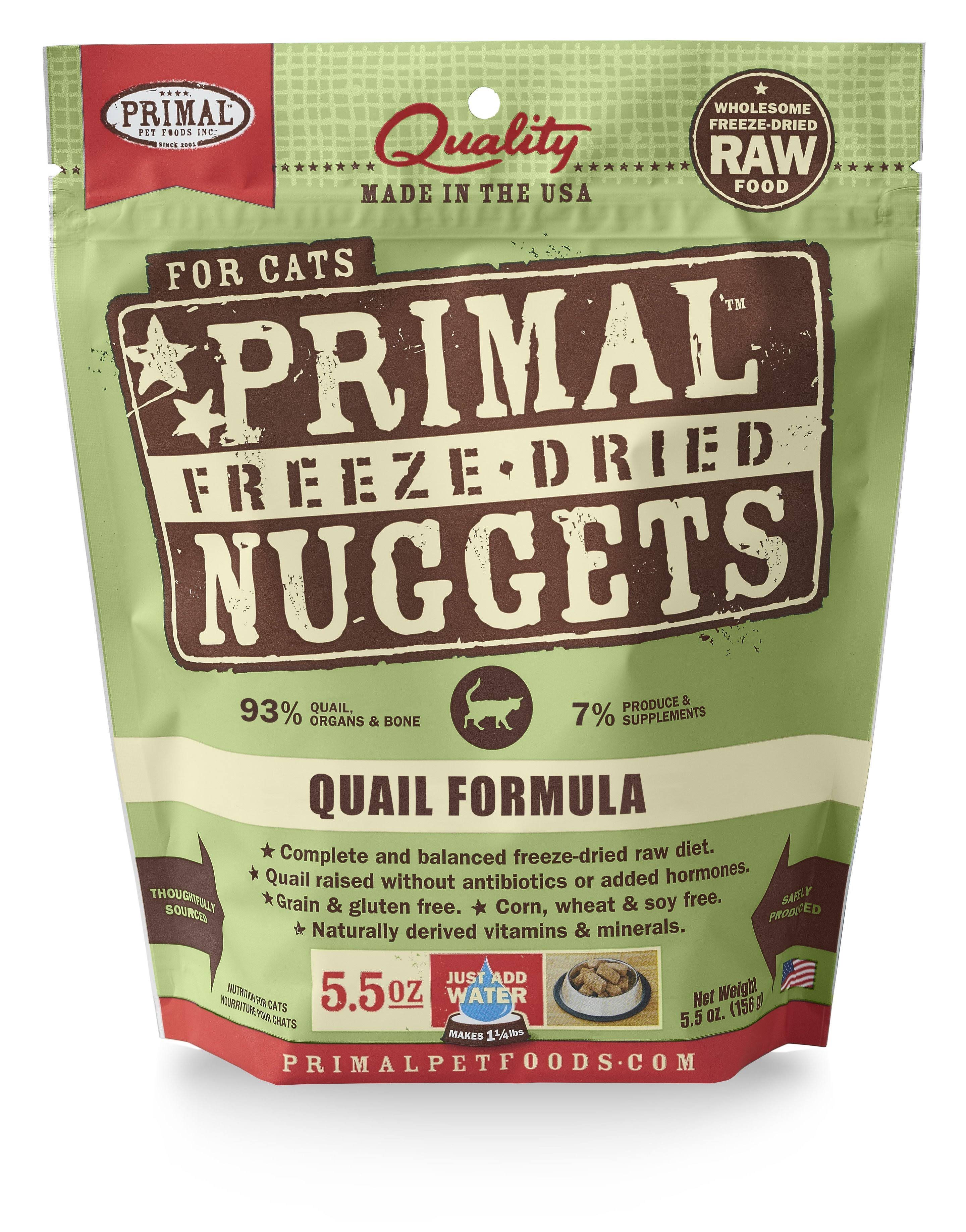 Primal Cat Freeze Dried Quail Nugget - 5.5oz