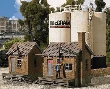 Walthers Cornerstone Series Kit HO Scale McGraw Oil Company Building Kit