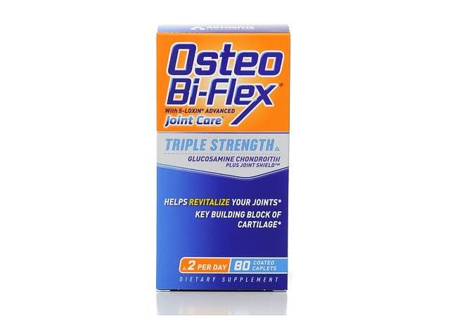 Osteo Bi-Flex Triple Strength Glucosamine Chondroitin with Joint Shield Coated Tablets - x80