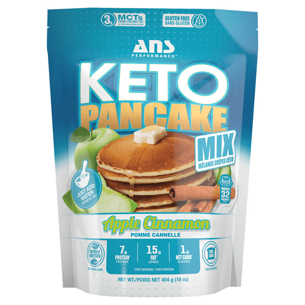 ans Performance Keto Pancake & Waffle Mix (16 Servings, 16 oz) - Low CARB, Gluten-Free, Grain-Free, Paleo, Low Glycemic | Made with Natural Almond
