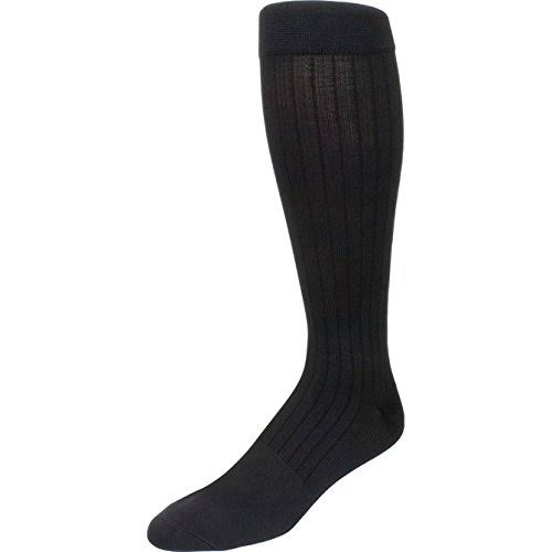 Sigvaris 189 Well Being Men's Knee High Business Casual Socks - Charcoal, Size B, 15-20mmHg