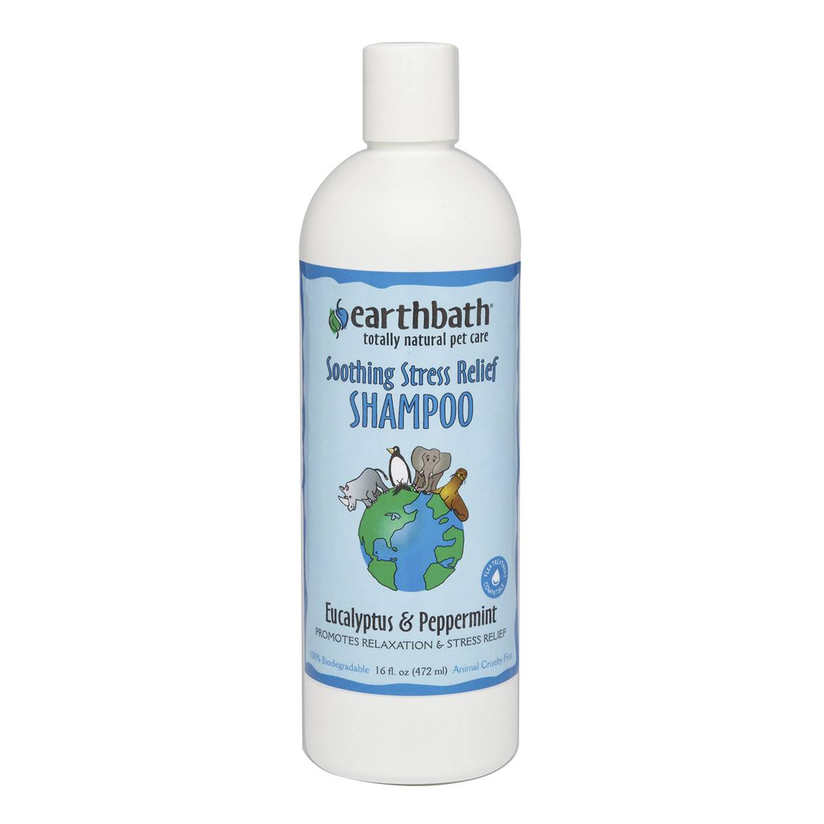 Earthbath All Natural Pet Shampoo - Eucalyptus & Peppermint, 16 oz