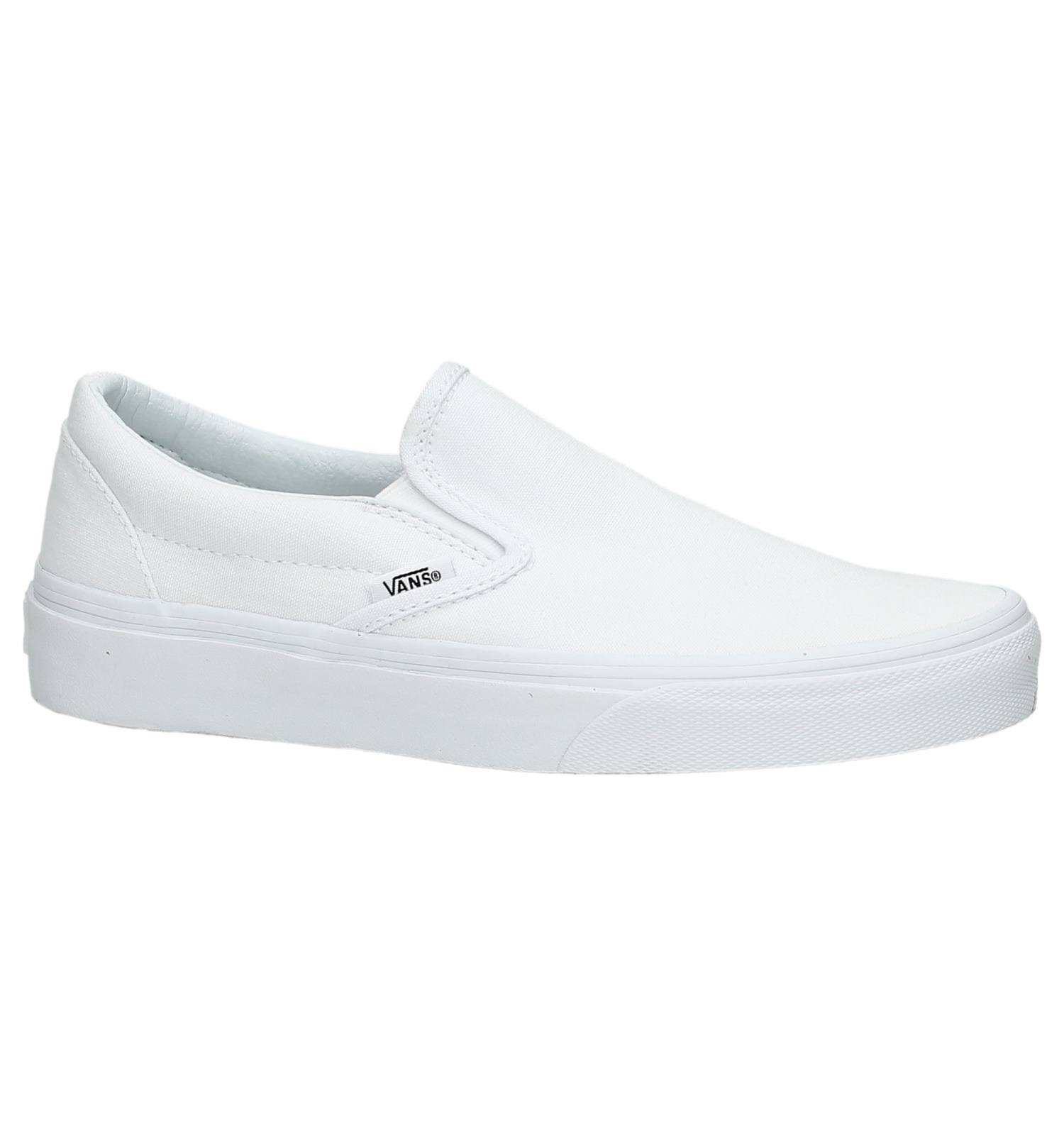 Vans Adult Classic Slip On Sneakers - White, 6 US