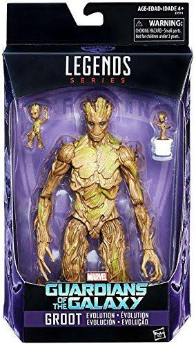 Marvel Legends Series Guardians of the Galaxy Groot Evolution Action Figures - 3pk
