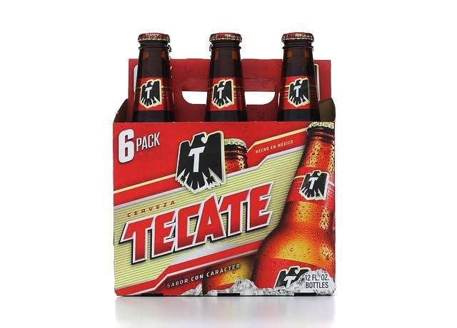 Tecate Beer - 6 Bottles