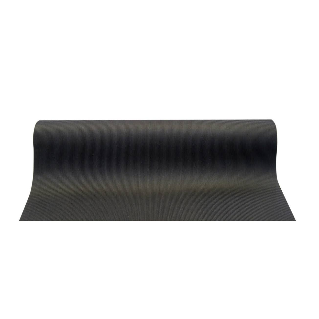"Dennis VRI3605T Ribbed Vinyl Runner - Black, 36"" x 75'"