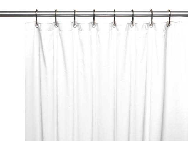 Carnation Home Fashions Hotel Collection, 8 Gauge Vinyl Shower Curtain Liner w/ Metal Grommets in White