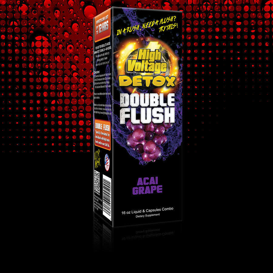 High Voltage Detox Double Flush Acai Grape 16 fl oz Bottle + Capsules Priority