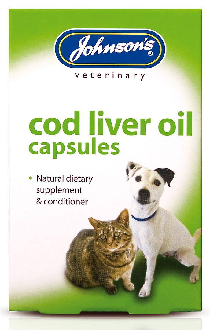 Johnsons Veterinary Cod Liver Oil Capsules - x40