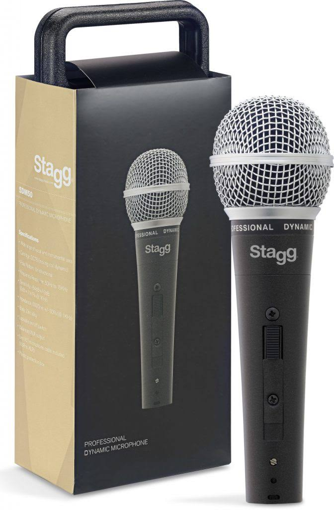 Stagg SDM50 Vocal Instrumental Professional Cardioid Dynamic Microphone