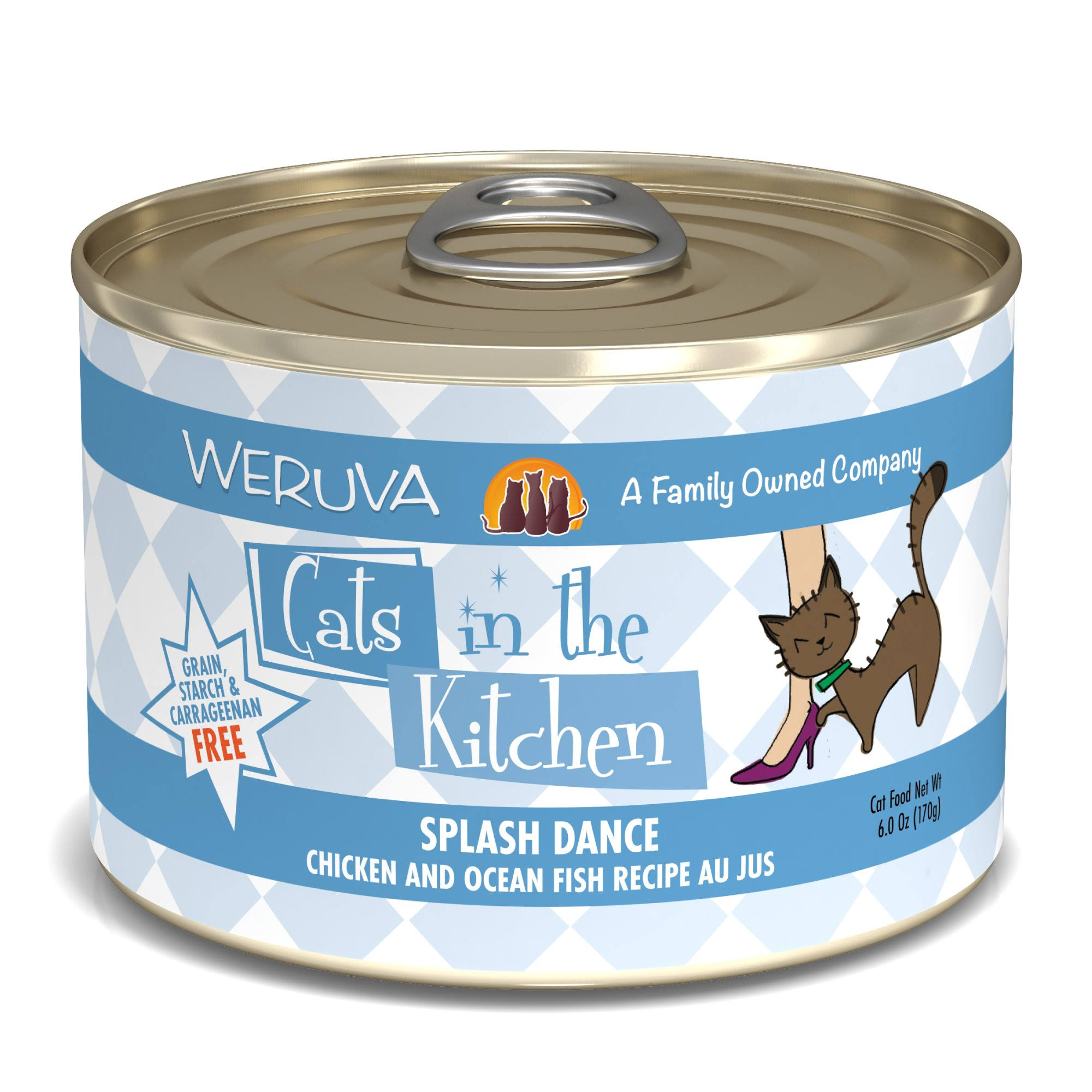 Weruva Cats In The Kitchen Splash Dance Cat Food - Chicken and Ocean Fish