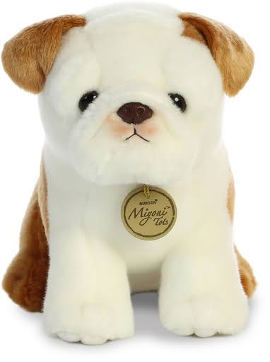 Aurora World Miyoni Tots Plush Toy Animal, Bulldog Pup, 10""