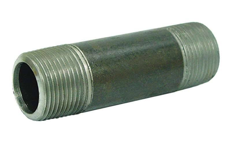 "B and K Mueller Galvanized Steel Pipe Nipple - 1 1/4"" MPT x 1 1/4"" x 6"" MPT"