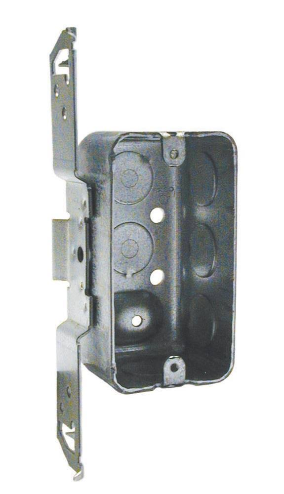 "Raco Rectangle Junction Box - Gray Steel, 1/2"", 1 Gang"