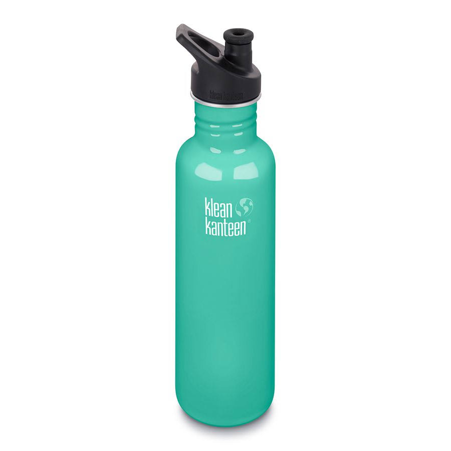 Klean Kanteen Classic Stainless Steel Water Bottle - Sea Crest, 27oz