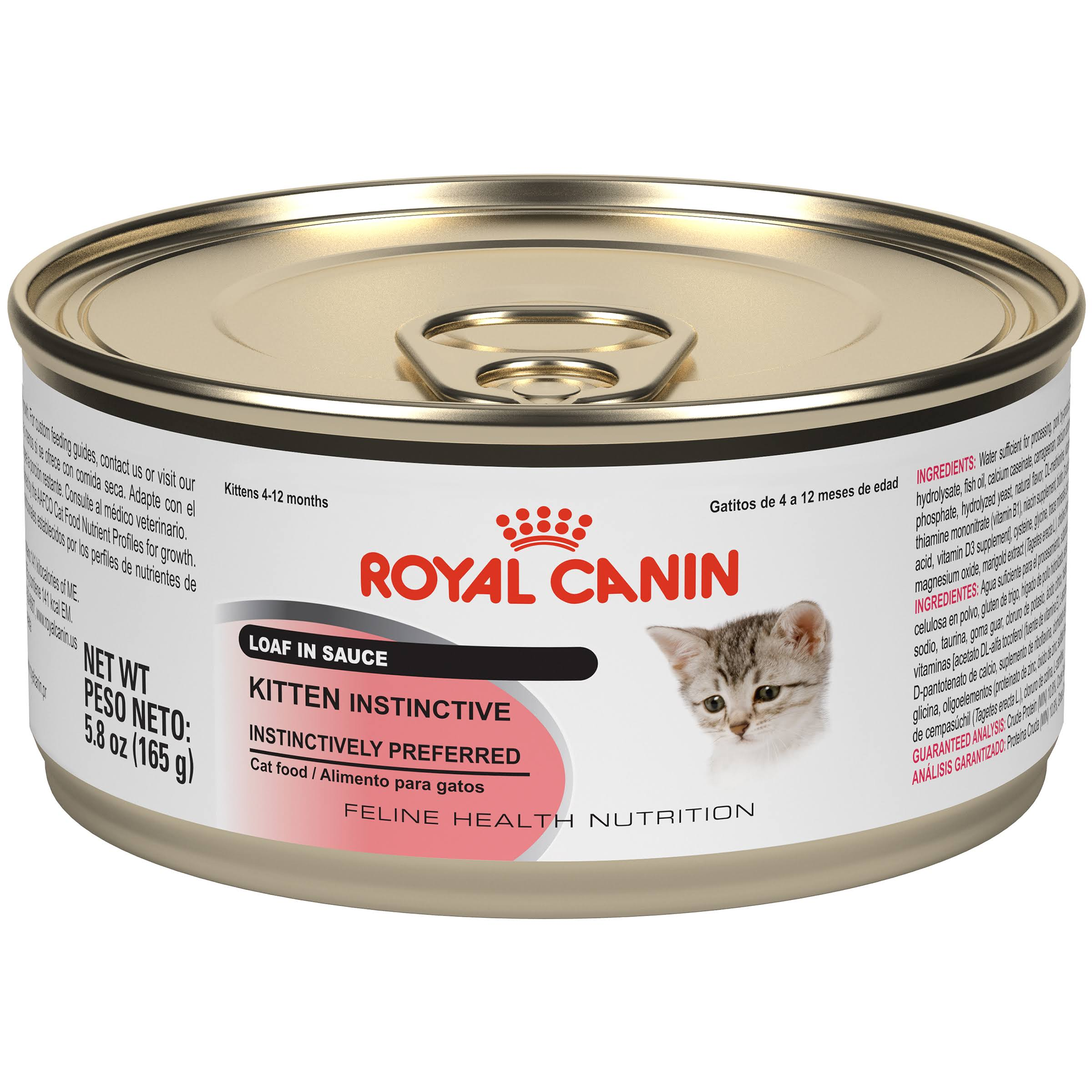 Royal Canin Feline Health Nutrition Kitten Instinctive Loaf in Sauce Canned Cat