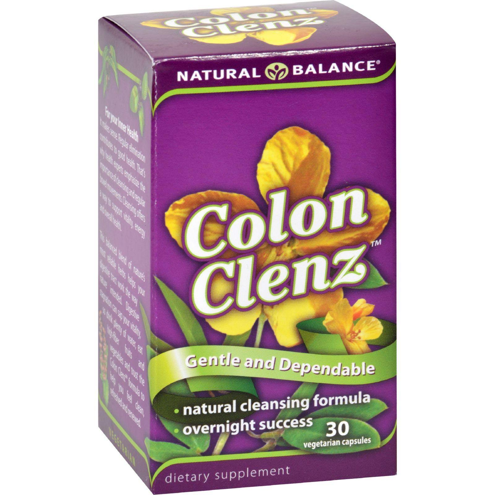Natural Balance Colon Clenz Dietary Supplement - 30 Capsules