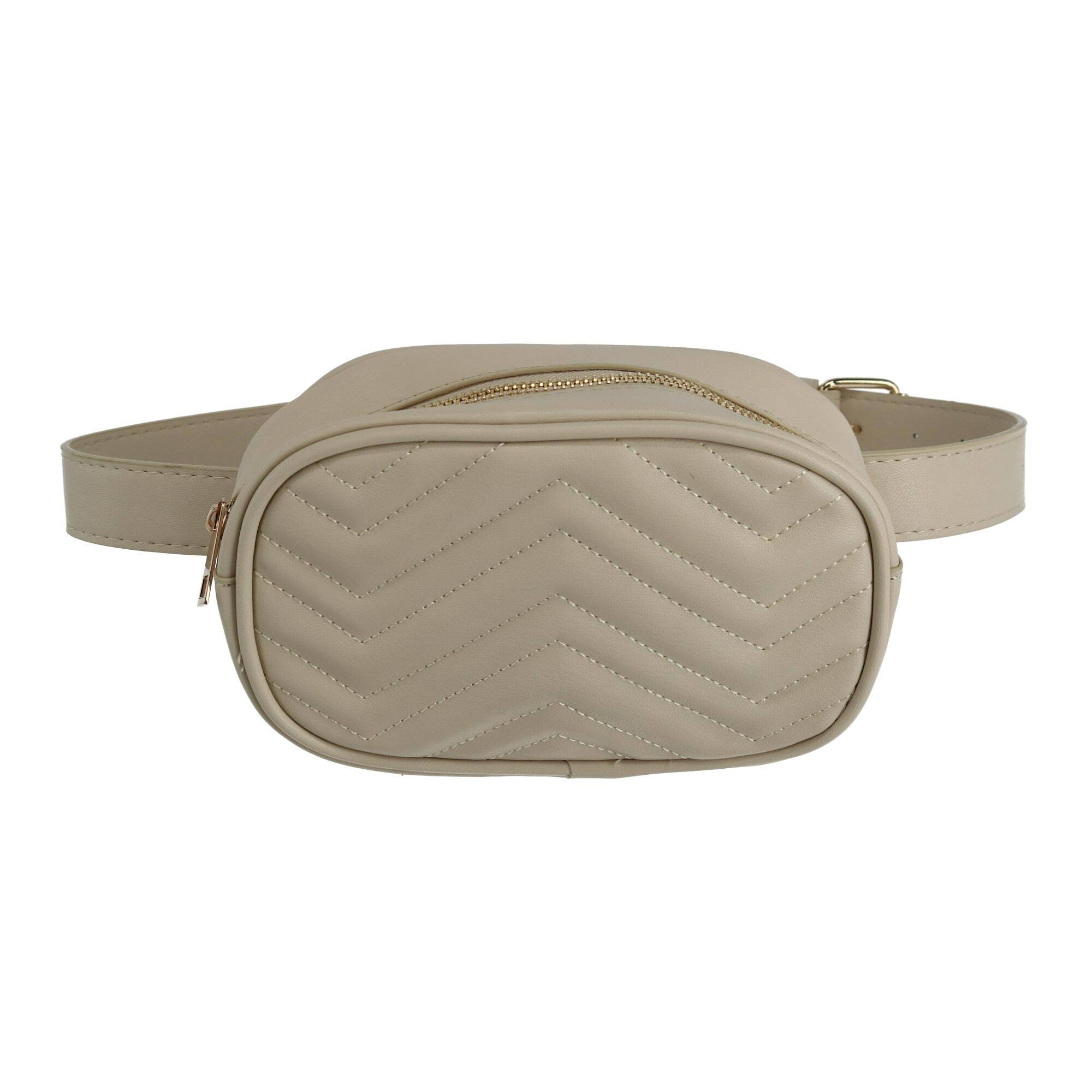 Urban Energy Quilted Convertible Belt Bag - Beige One Size