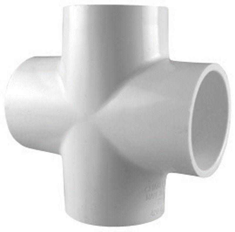 "Charlotte Pipe & Foundry Pvc Cross - 1.5"", White"