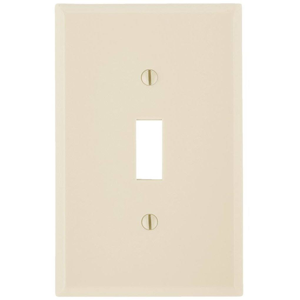 Leviton Toggle Switch Wall Plate - Ivory, 1 Gang