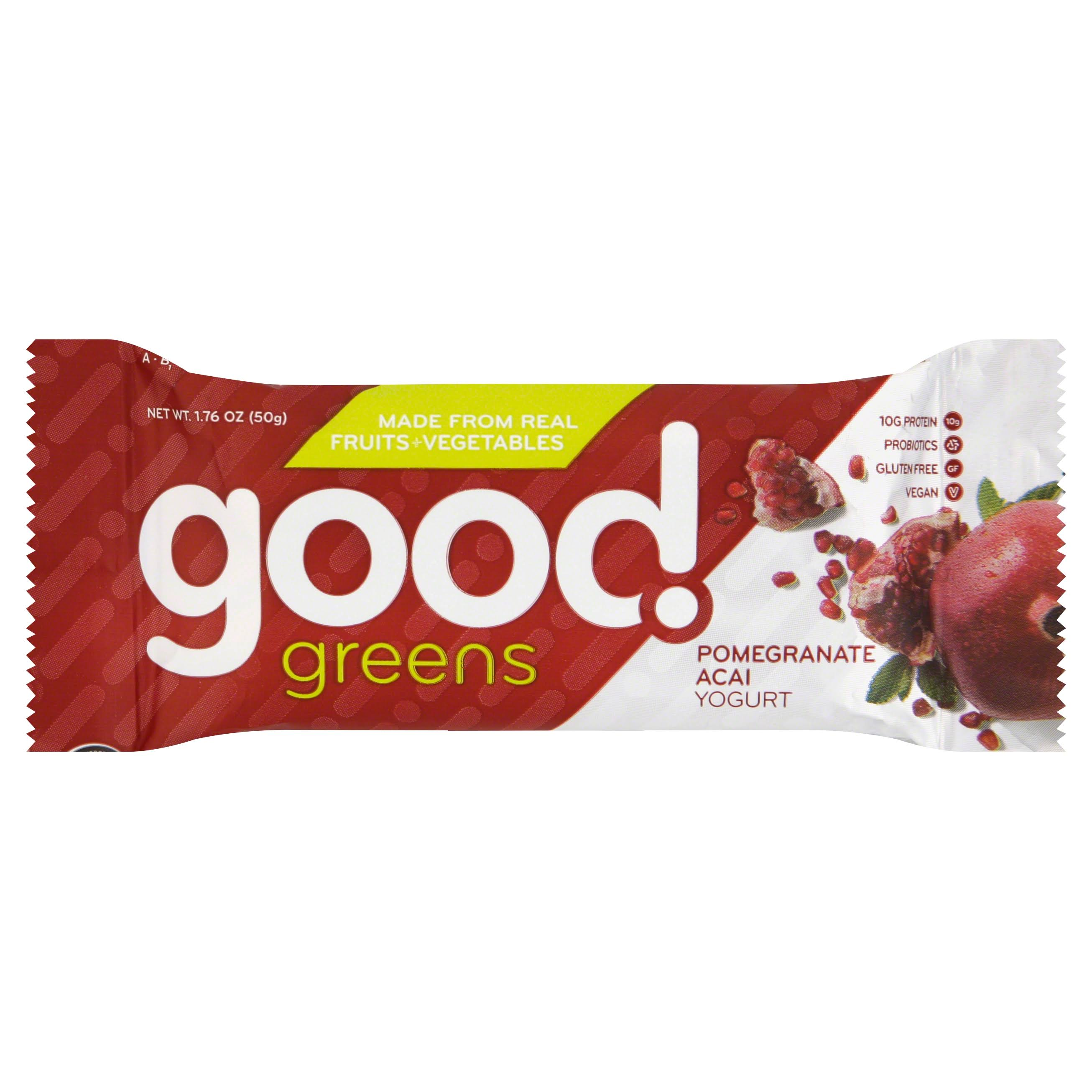 Good Greens Wellness Bar - Pomegranate Acai Yogurt, 1.76oz