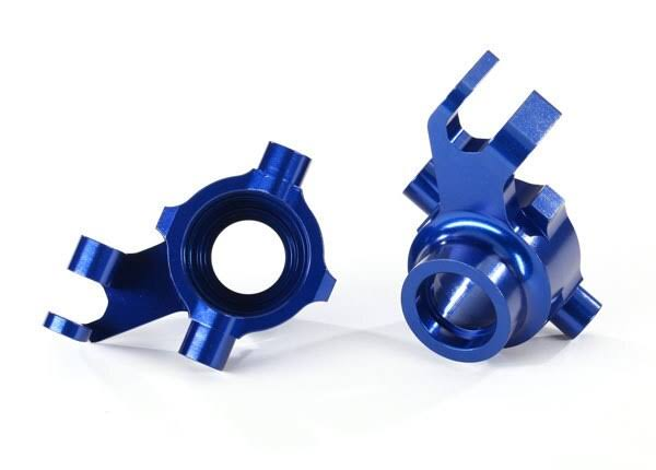 Traxxas Steering Blocks 6061-T6 Anodized Aluminum Blue TRA8937X