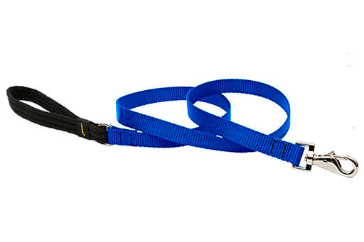 "Lupine 17509 Padded Handle Dog Leash - 3/4"" x 6', Blue, for Medium and Larger Dogs"