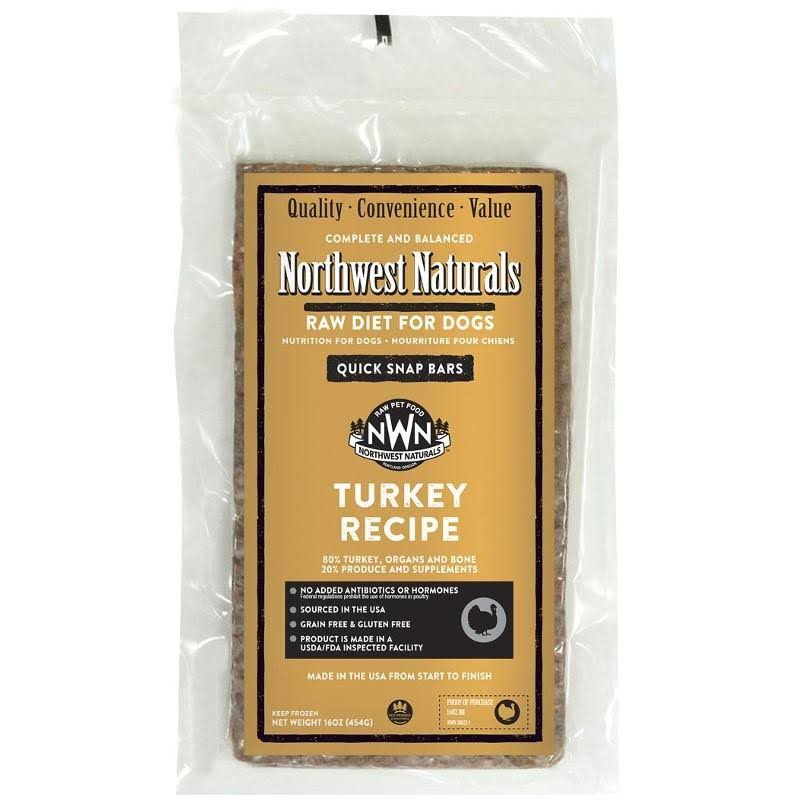 Northwest Naturals Turkey Dinner Bars 1 lb.