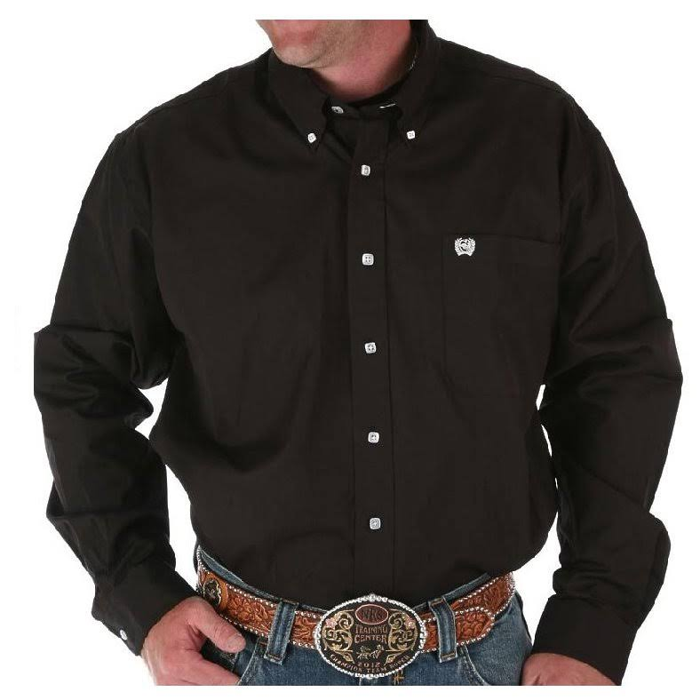 Cinch Men's Classic Fit Solid Shirt - Small - Black