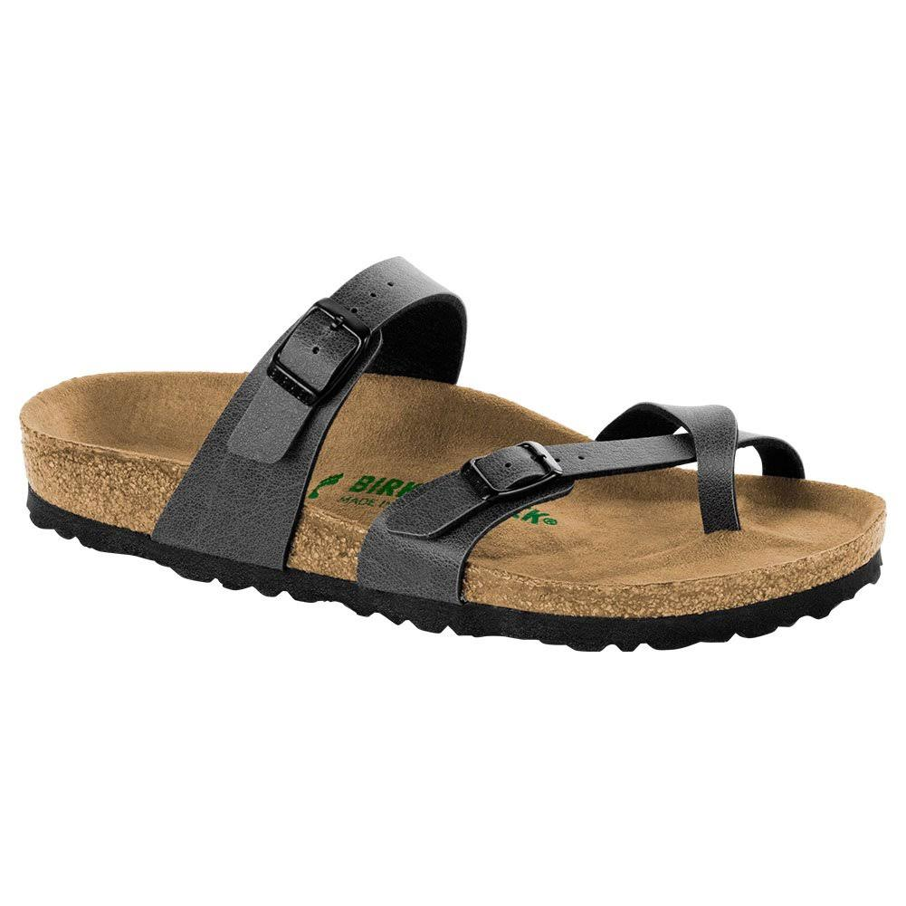 Birkenstock Mayari Pull up Womens Birko-flor Vegan Sandals - Anthracite, 39 EU