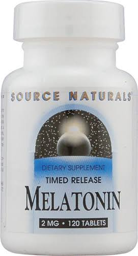 Source Naturals Melatonin 2mg Dietary Supplement - 120 Tablets
