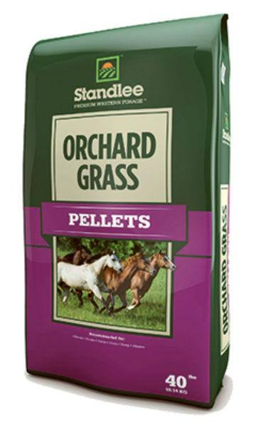 Standlee Hay 1375-30101-0-0 Forage Orchard Grass Pellets - 40lb
